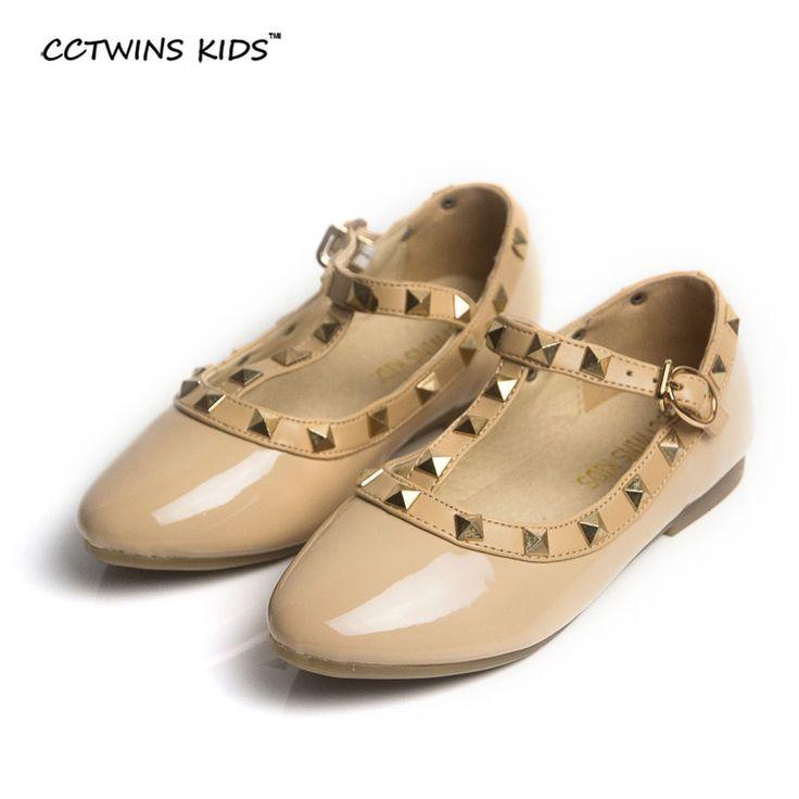 Cctwins anak musim semi gadis merek untuk bayi stud shoes anak nude sandal balita musim panas sepatu flats partai sepatu hitam putih G358
