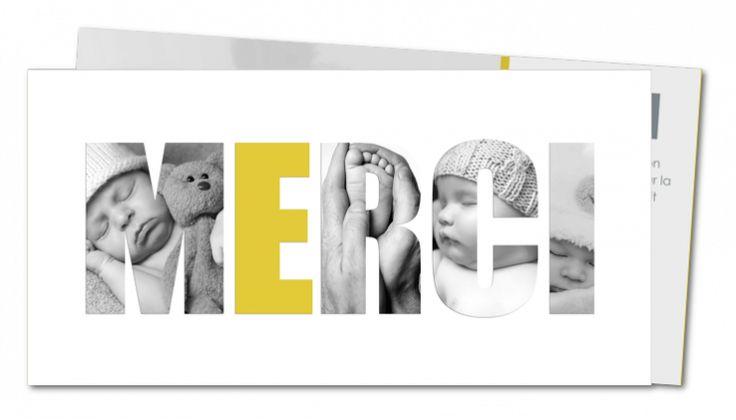 Remerciement naissance garçon │ Planet-Cards.com