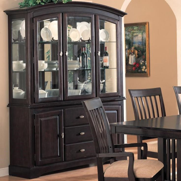 Coaster Furniture 100184 Monaco Buffet And Hutch In Cappuccino