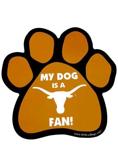 Texas Longhorns Paw Pet Magnet