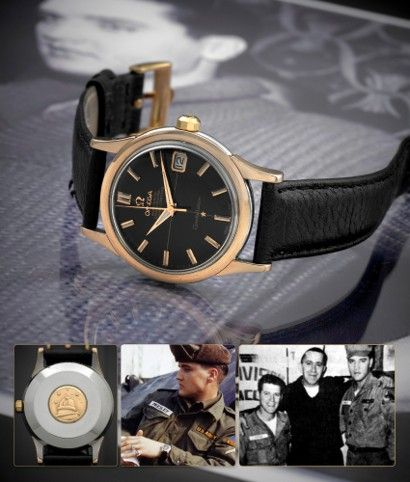A circa 1960 Elvis Presley Omega watch sold for $52,500 at a New York auction on June 12