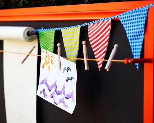 Kid's outdoor art activity centre