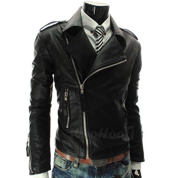 Chaqueta Traje Jacket Cazadora Cuero PU Moda Talla L XL XXL para Hombre | eBay