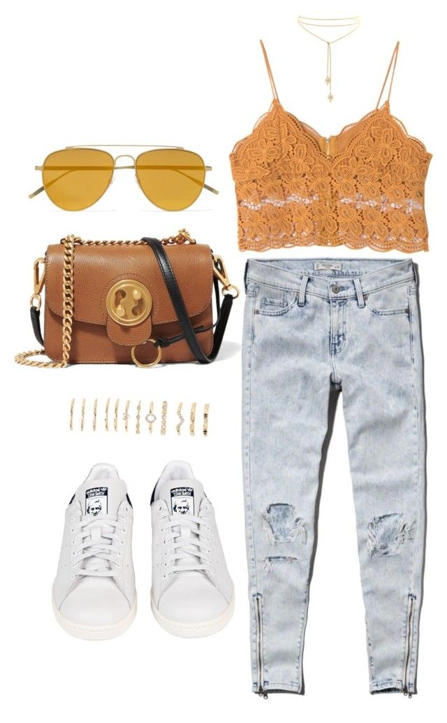 """Untitled #4960"" by lilaclynn ❤ liked on Polyvore featuring Abercrombie & Fitch, adidas, Tomas Maier, Chloé, Forever 21, abercrombie, forever21 and chloe"