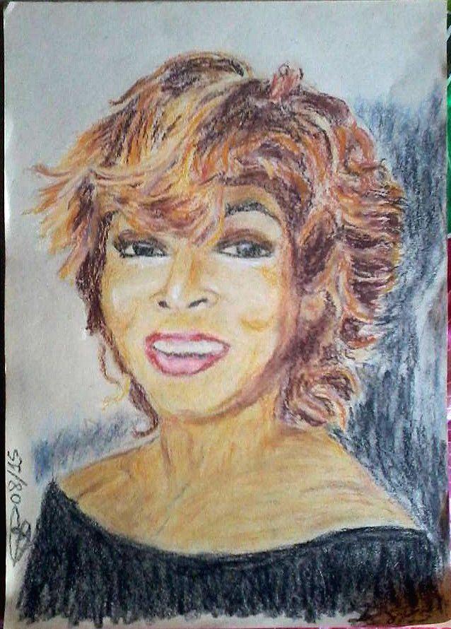 Tina, portrait oil pastels on paper 25X35 cm ca.