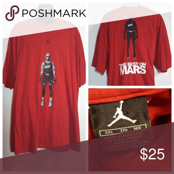 Crew Neck Tee Jordan, The Best On Mars,Spike Lee This is an Adult 3XL Brooklyn The Best On Mars Jordan Crew Neck Tee Shirt. It is pre owned but has no, tears, holes, or rips. In very good condition. well kept. Tag is Jordan. Pit to pit is 32 1/2 inches .Length is 35 1/2 inches. These shirts run big. Jordan Shirts Tees - Short Sleeve