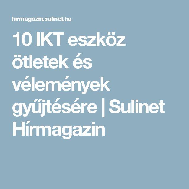 10 IKT eszköz ötletek és vélemények gyűjtésére | Sulinet Hírmagazin