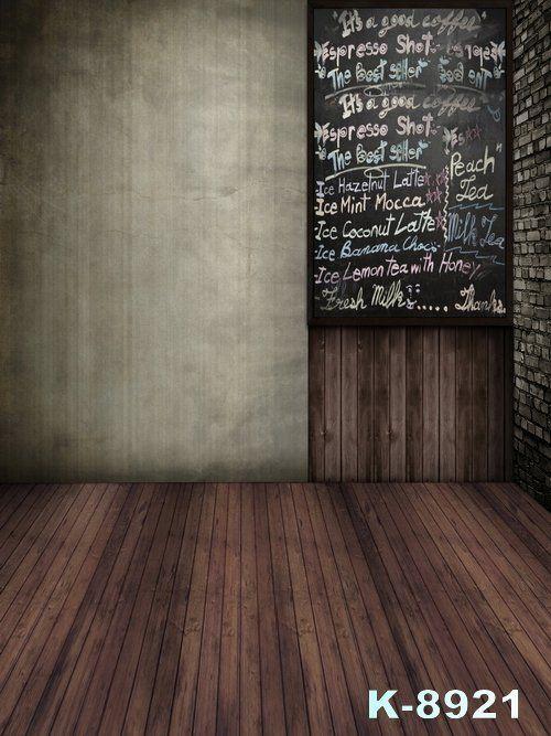 Полоса Деревянный Номер Виниловая Ткань Фон, Серые И Белые Стены и Черная Доска Декор Фотостудии Фоны Пользовательские Любой размер