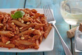Pasta arrabiata met walnotengehakt - ik mag een recept uit het boek Kickstart, van Lisa Steltenpool, met jullie delen!