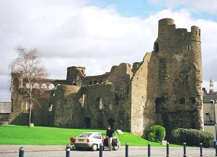 Swansea Castle, Welsh Name: Abertawe, in the town of Swansea, South Wales.