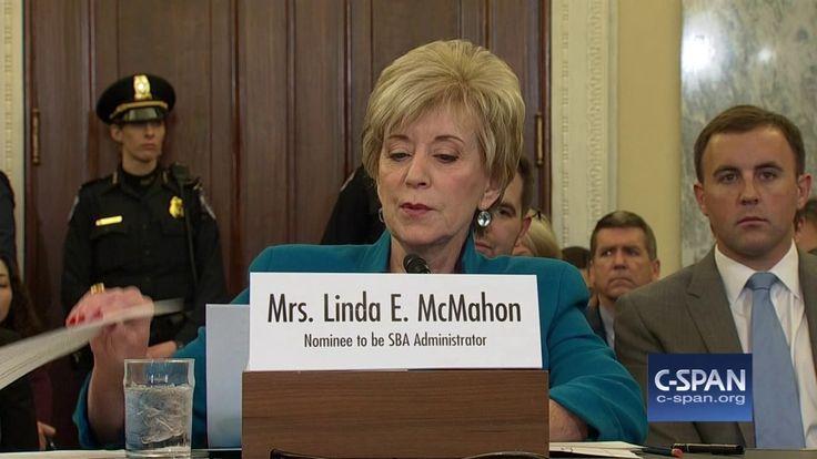 Small Business Administrator Nominee Linda McMahon Opening Statement (C-...