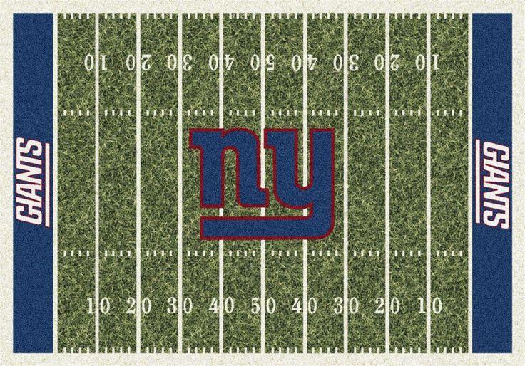 New York Giants NY Football Field Rug