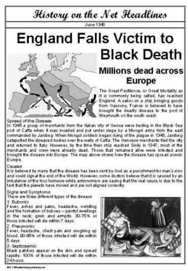 Headlines For Black Plague