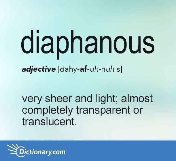 The groundwork for diaphanous was laid when phainein