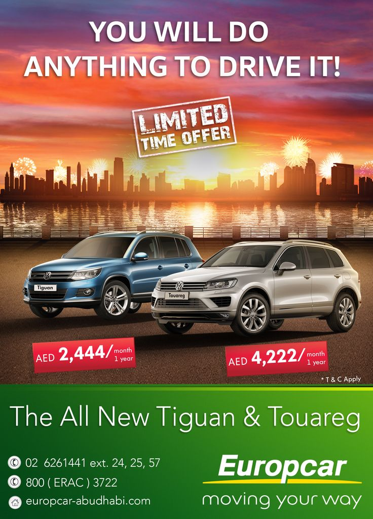 You will do anything to drive it! The All New 2015 Tiguan & Touareg