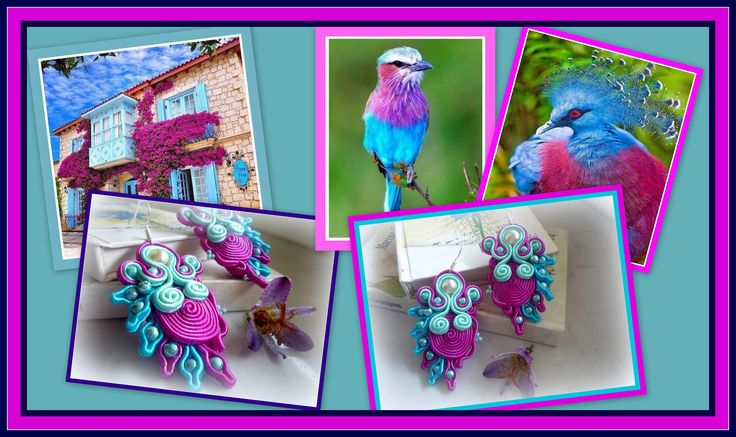 Niezwykłe w kolorystyce i wzorze kolczyki. Jeszcze są dostępne, więcej na www.reczniestworzone.blogspot.com