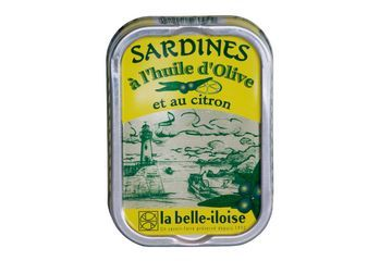 Sardine in de Citroen van La Belle-Iloise.  Specialiteiten van Sardines    Het Zuiden komt naar je tafel. Sardines in extra vergine olijfolie, verse plakjes gekonfijte citroen, voor een boeket van zonnige smaken.    Voor de koude en warme bereiding. Heerlijk in een salade maar ook lekker als hartige taart.