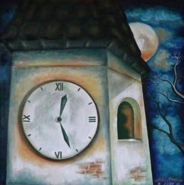"Saatchi Art Artist Peter Ghetu; Painting, ""Time Tower"" #art"