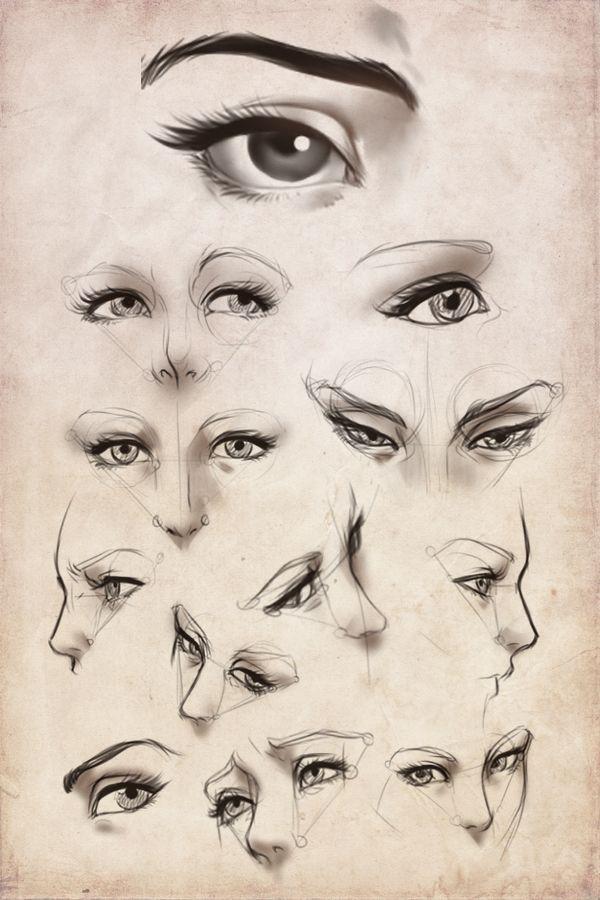 Practice: Female eyes by *Artipelago on deviantART