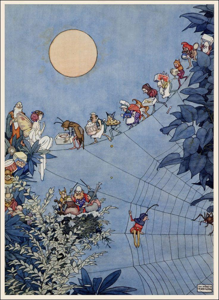 The Fairy's Birthday, by William Heath Robinson, 1925.
