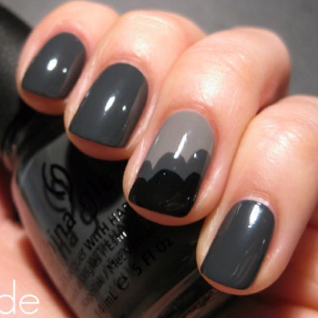 gray on gray - nice nails!