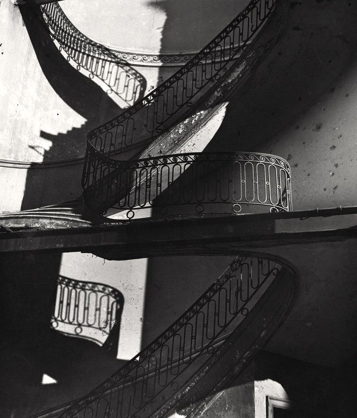 Bombed Staircase in Mayfair, London ca.1942 |  Photo: Bill Brandt