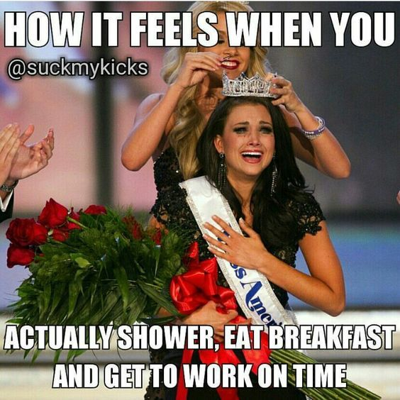 I missed the breakfast part and still felt this way this morning!