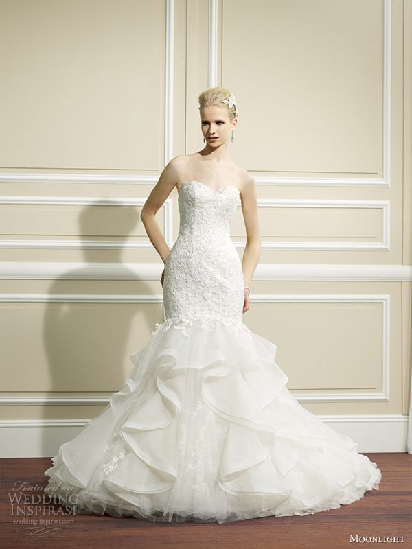 moonlight couture fall 2014 wedding dress h1267 front view 2