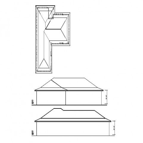 Drawing Elevation And Roof Plan Of Building 2d View Autocad File