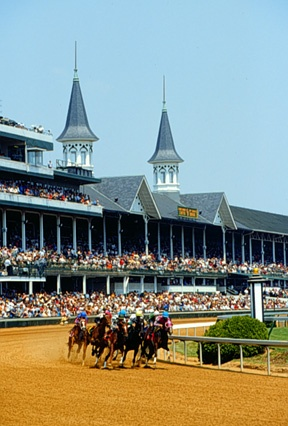 The Run for the Roses at Churchill Downs in Louisville, Kentucky.