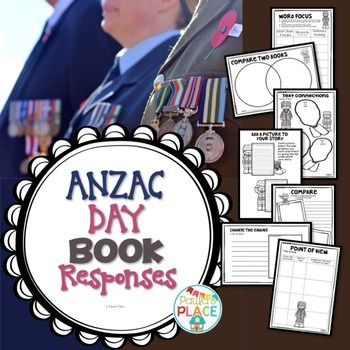 ANZAC Day - Book Responses for any ANZAC BOOK