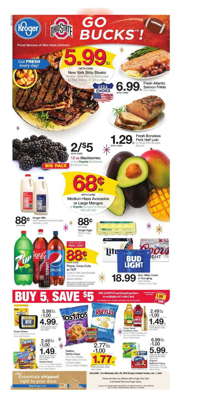 Kroger weekly ad flyer march 11 17 2020 panfleto