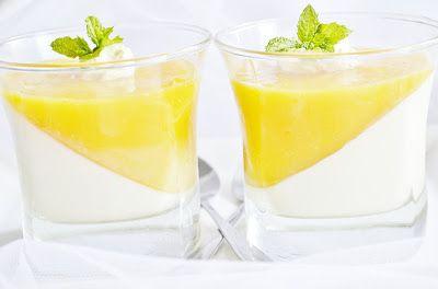 .. chute a vône mojej kuchyne...: Kokosova panna cotta a mangove zele, Coconut panna...