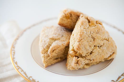 Super gingery buttermilk scones, made with both candied and fresh ginger, with a hint of lemon.