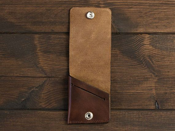 It is created from a single piece of leather for people who like originality and uniqueness. This Simple and minimalistic slim wallet from genuine leather Horween provides plenty of space for notes and a slot for 4 bank cards.