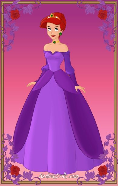 azaleas dolls ariel ariel purple ballgown by