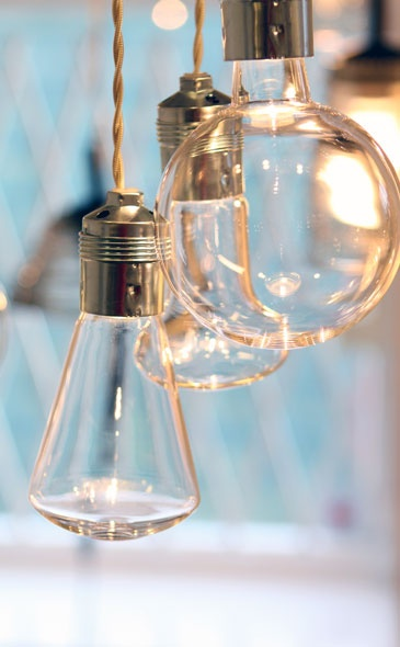 Glass bulbs in different shapes