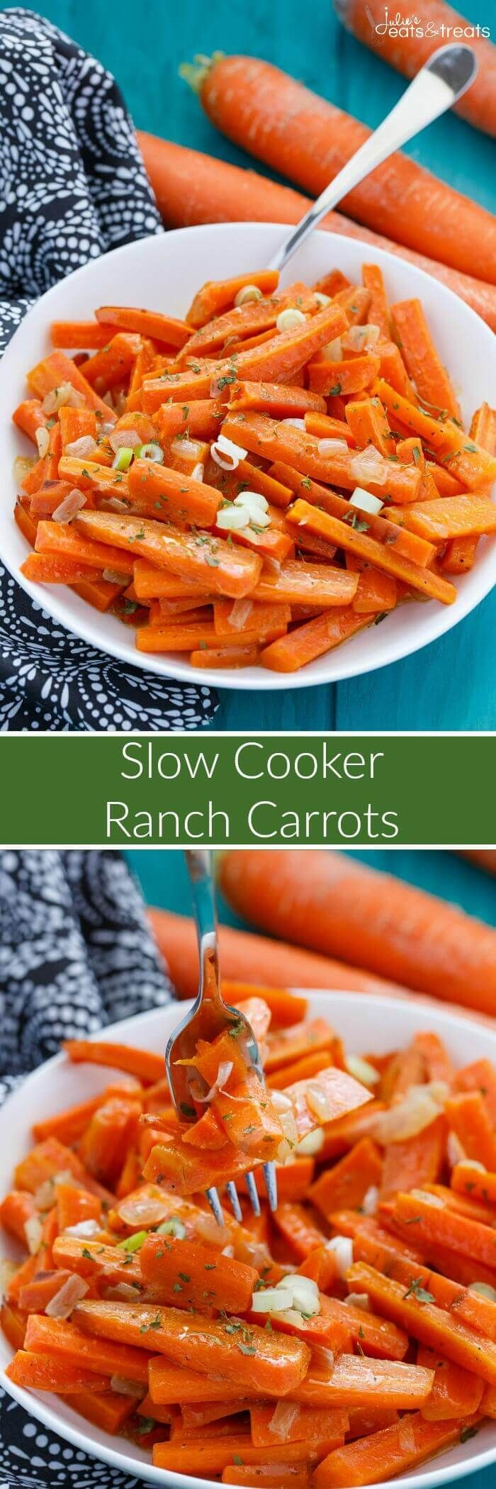 Ranch Crock Pot Carrots ~ Super Quick to Make for the Holidays in Your Slow Cooker when Oven Space is Limited!