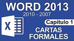 Curso Word 2013 - Capitulo 1, Carta sencilla (Formal) - YouTube