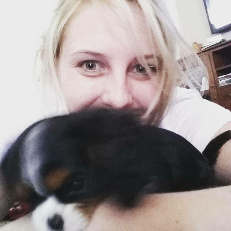 She's biting me. Little minx