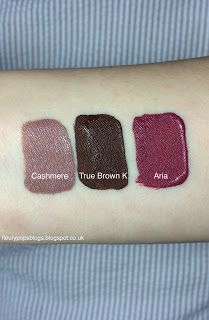 Fleurypops Blogs - True Brown by Kylie Jenner, Aria by Stila and Cashmere by Limecrime. Review, swatches and dupes http://fleurypopsblogs.blogspot.co.uk #cashmere #limecrime #ukblogger #beautyblogger #kyliejenner #kylielipkit #stila #aria #dupes