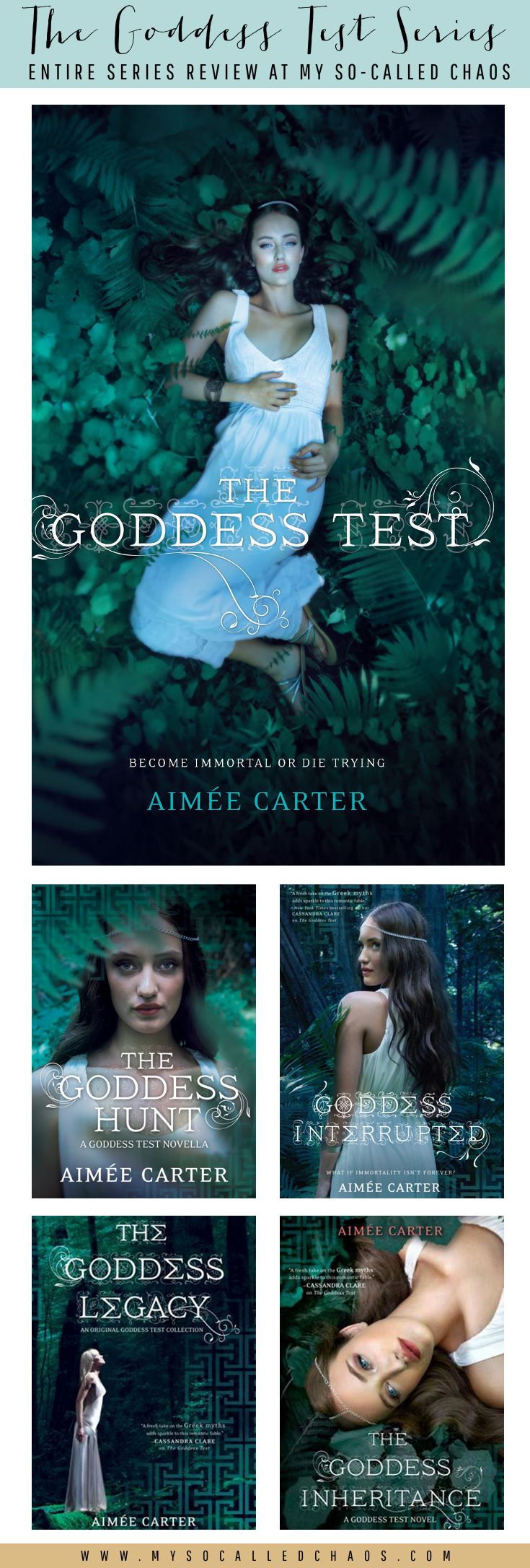 Book Review   The Goddess Test Series by Aimée Carter http://mysocalledchaos.com/2015/01/book-review-goddess-test-series-by.html
