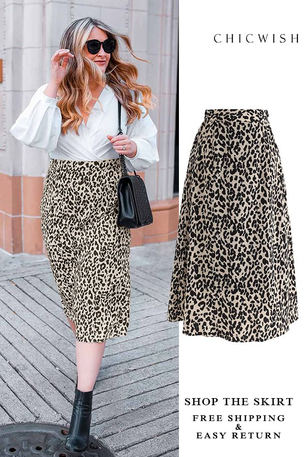 865c5fb6fb6c Wild Heart Leopard Printed A-Line Midi Skirt featured by cameronproffitt.  Free Shipping & Easy Return. Up to 30% Off.