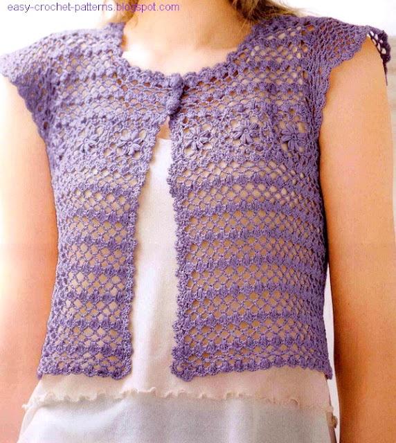 75 best Crochet Vest Ideas images on Pinterest | Crochet shrugs ...