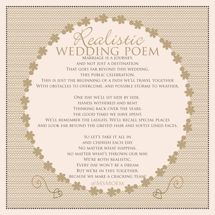 60 Best Wedding - Poems Images On Pinterest
