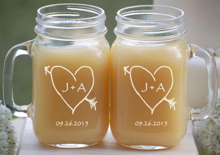 Engagement Gift Glasses, 2 Engraved Mason Jar Mugs, Couples Gift, Just Married, Personalized Wedding Gift, Party Cup, Wedding Present by UrbanFarmhouseTampa on Etsy https://www.etsy.com/listing/168996901/engagement-gift-glasses-2-engraved-mason