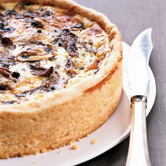 5 Incredible Quiches.  Here, star chef Thomas Keller's delicious #mushroom #quiche.