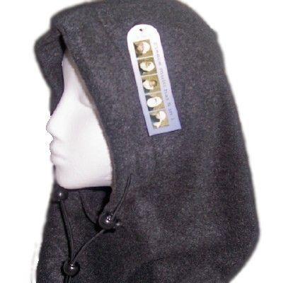 Kapuzenschal Sturmhaube Fleece Mütze / Schal rot, blau, beige oder weis
