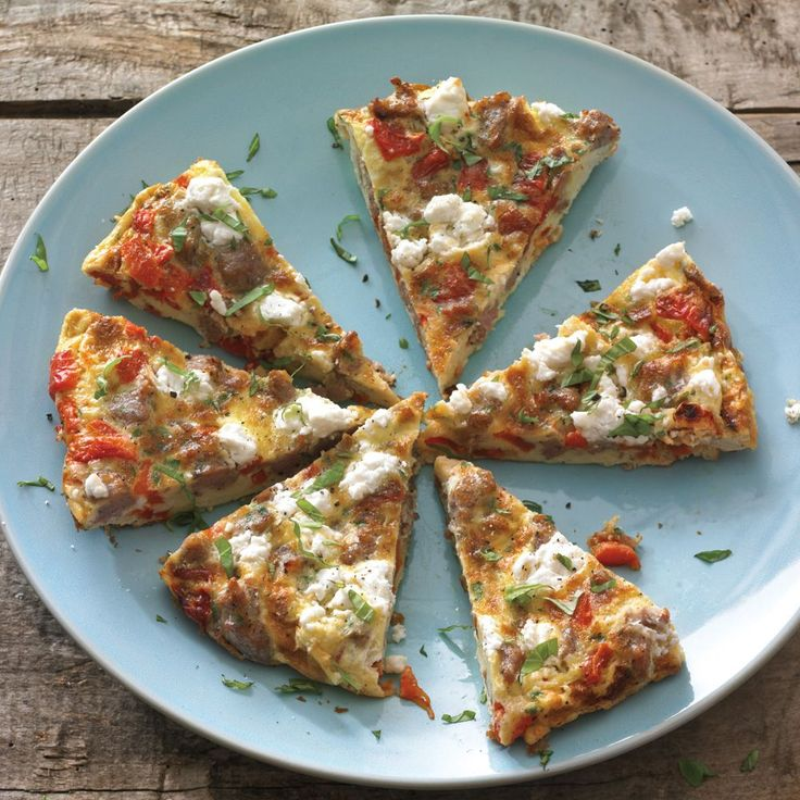 Roasted Red Pepper Frittata with Sausage and Feta | Williams-Sonoma