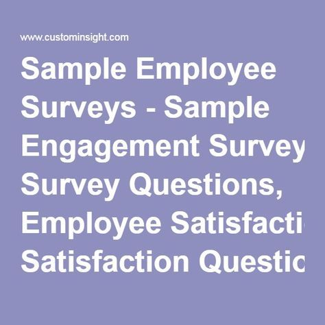 The  Best Employee Satisfaction Survey Ideas On